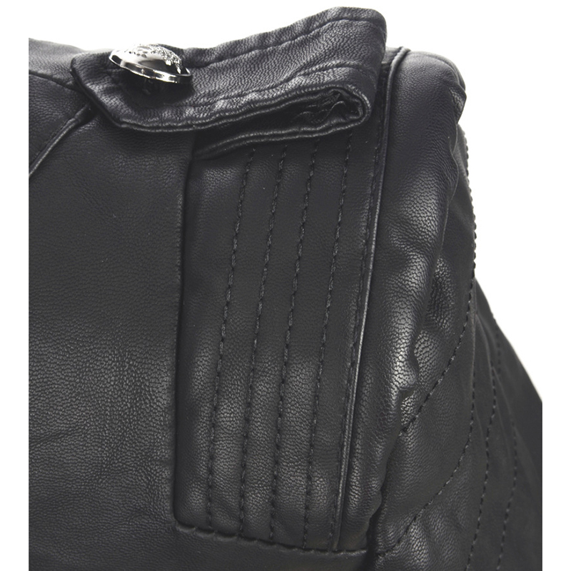 Survêtement Rétro Moto Zipper Printemps Femme Faux Vestes Automne Black Style Et Femmes Mince Cuir Manteaux Pu Mode Court Motard FZRnaFY