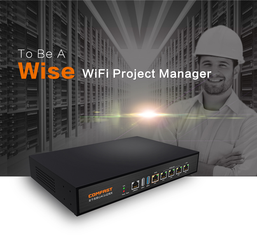 2016 Comfast Full Gigabit AC Authentication Gateway Routing MT7621 CF-AC100 880Mhz Core Gateway wifi project manage Routers comfast full gigabit core gateway ac gateway controller mt7621 wifi project manager with 4 1000mbps wan lan port 880mhz cf ac200