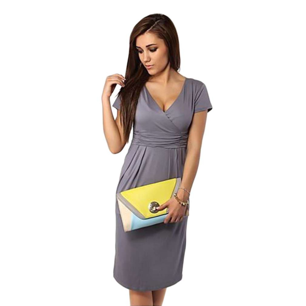Outad sexy women pregnant maternity dress v neck slim bodycon outad sexy women pregnant maternity dress v neck slim bodycon dresses short sleeve stretch wrap maternity clothes summer in dresses from mother kids on ombrellifo Images