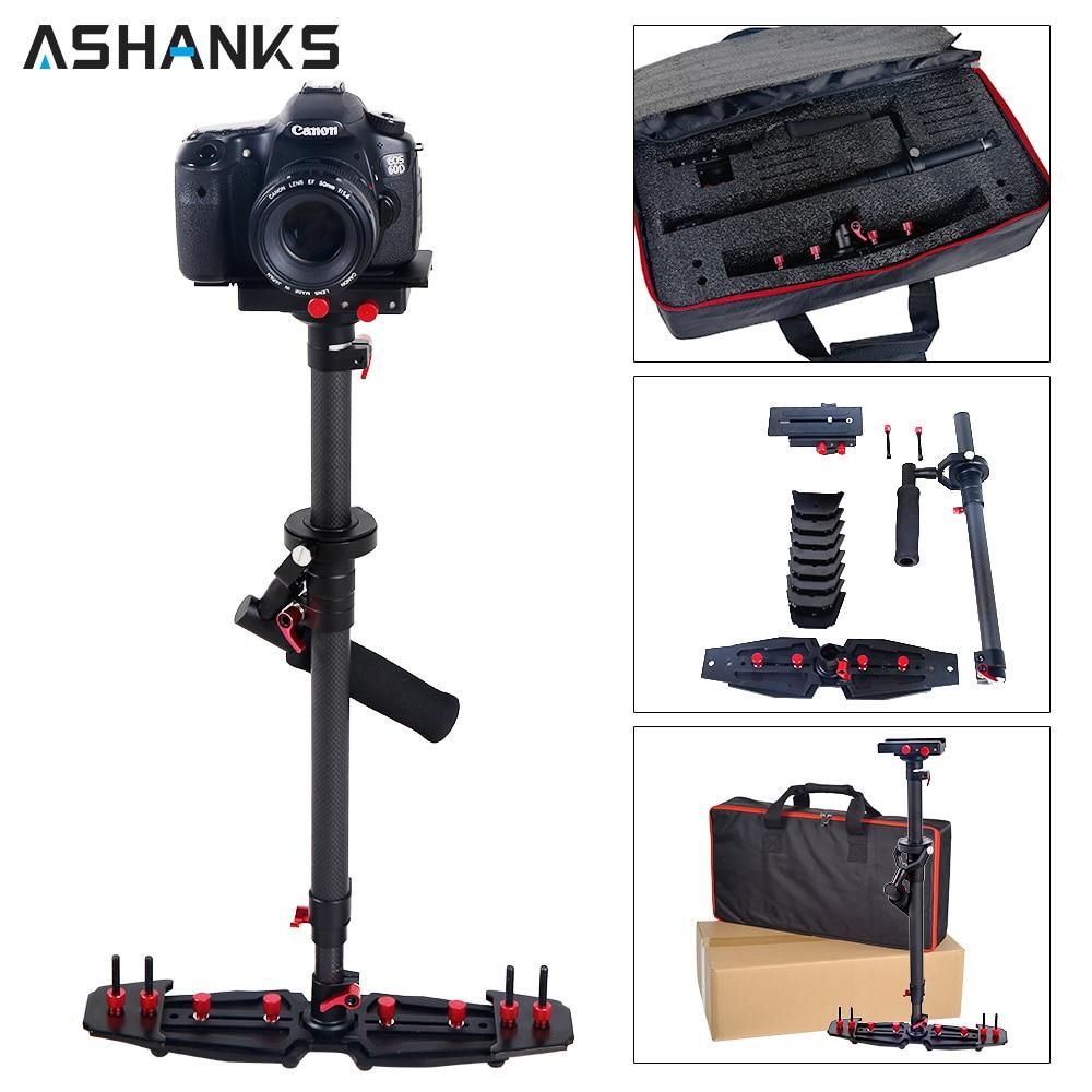 ASHANKS 80 cm/31.5 ''Macchina Fotografica Stabilizzatore Carbonio Steadycam HD2000 Handheld Steadicam per la Fotografia Dslr Video 7 kg con Carry Bag