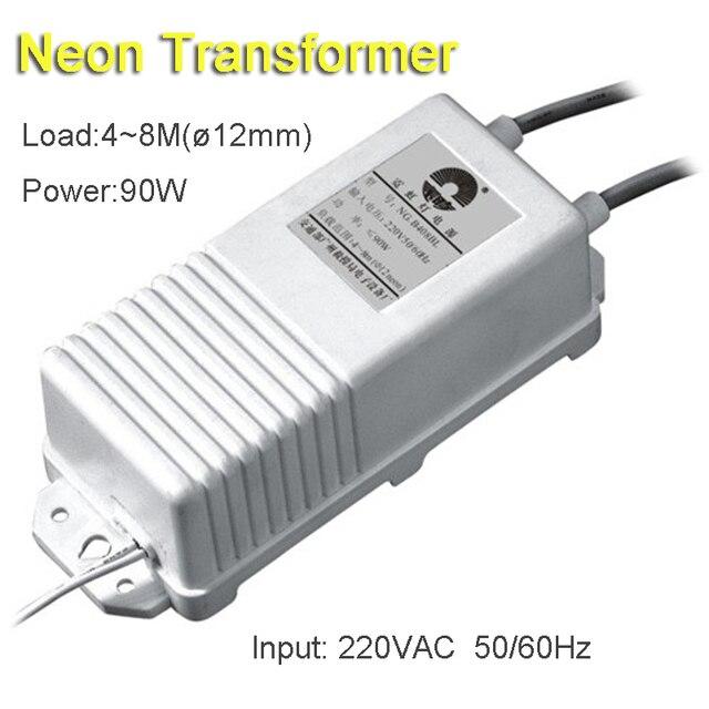 8 metrów 90 W Neon znak zasilania transformatora Neon prostownik 220 V wyjście wejście 8KV 30mA darmowa wysyłka