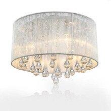 2015 новый стильный современный минималистский гостиной спальня потолочный светильник люстра хрусталь светильники романтическая пастырской