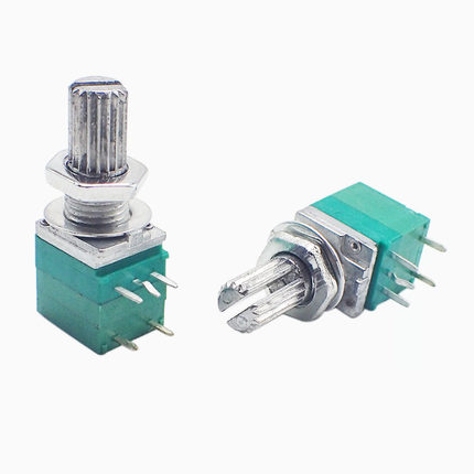 5pcs/lot RV097NS 5K 10K 20K 50K 100K 500K B5K With A Switch Audio 5pin Shaft 15mm Amplifier Sealing Potentiometer In Stock