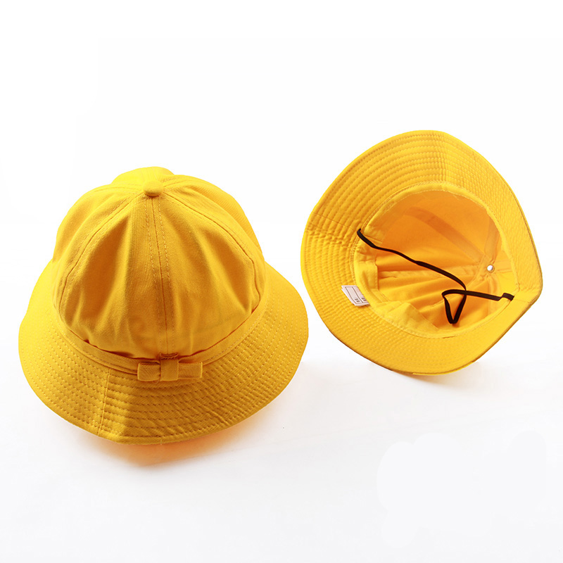 UNIKIWI Women s Bright Yellow Bow knot Bucket Hat Caps Lady Girl s Canvas  Travel Sun Hat Bow Fisherman Panama Hats Can Be Folded-in Bucket Hats from  Apparel ... 17060cb9e312