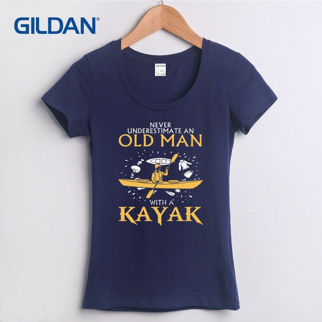 Tee Shirt Design Company 2017 Never Underestimate An Old Man Kayaking Best  White T Shirt Womens