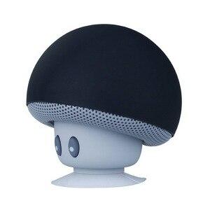Image 2 - Mini alto falante bluetooth portátil, mini alto falante com microfone estéreo à prova dágua, cogumelo para celular e computador