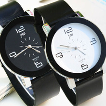 New Fashion Relaxing Black Band Casual plastic electronic Wrist Watch