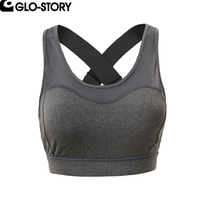 GLO STORY Woman Cropped Tank Tops Female Spliced Gunze Fitness Summer Crop Top WSB 3598