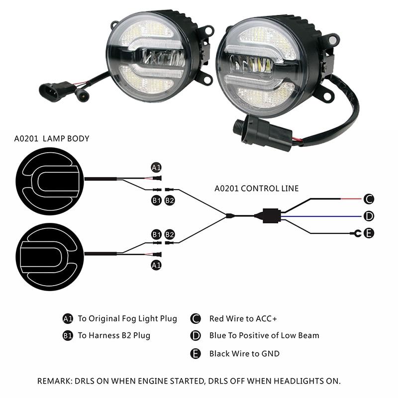цена на 3.5 Inch 89mm Daytime Led Fog Light Lamp Daytime Running Light Bulb for Nissan Suzuki Mitsubishi Ford Toyota Citroen Renault
