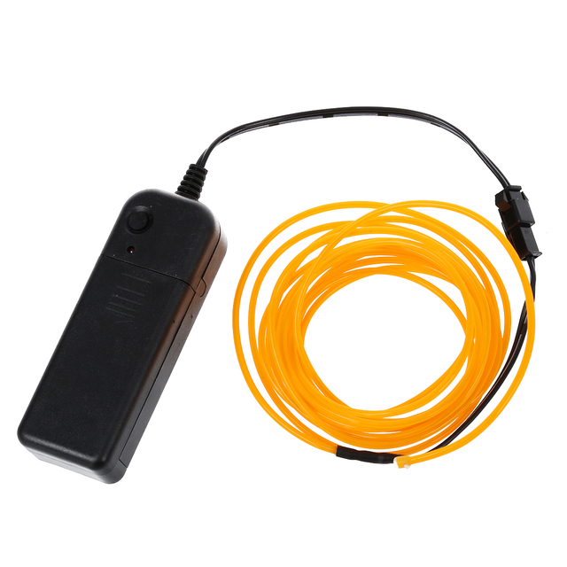 9ft Yellow Neon Glow Electroluminescent Wire (El Wire)-in Table ...