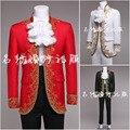 (Jakcet + pantalón) traje conjunto masculino traje de la etapa de baile en la cadena nacional vestido de novia chaqueta pantalones formales traje cantante estrella