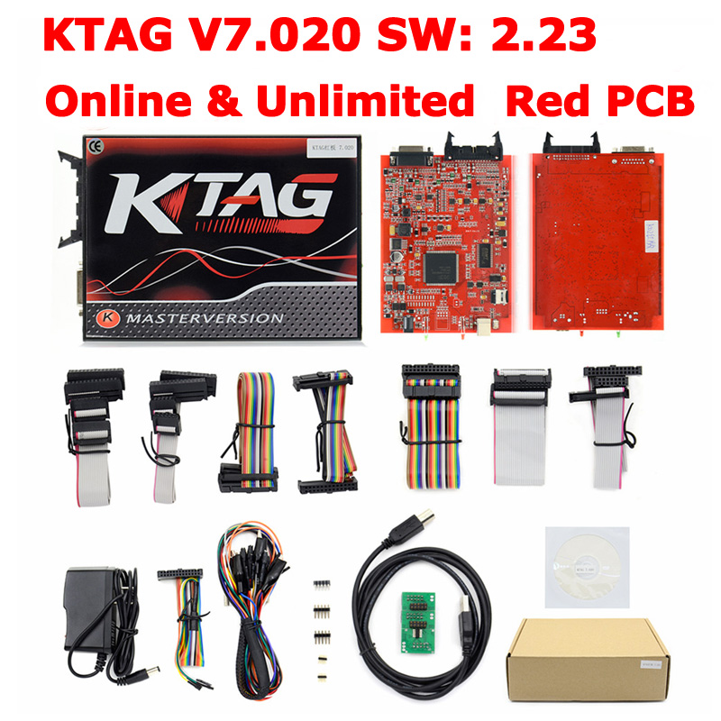 100% No Token KTAG K-TAG V7.020 V2.23 Online Master KTAG 7.020 ECU Chip Tuning For Car Truck ECM Winols Free Ship new version v2 13 ktag k tag firmware v6 070 ecu programming tool with unlimited token scanner for car diagnosis