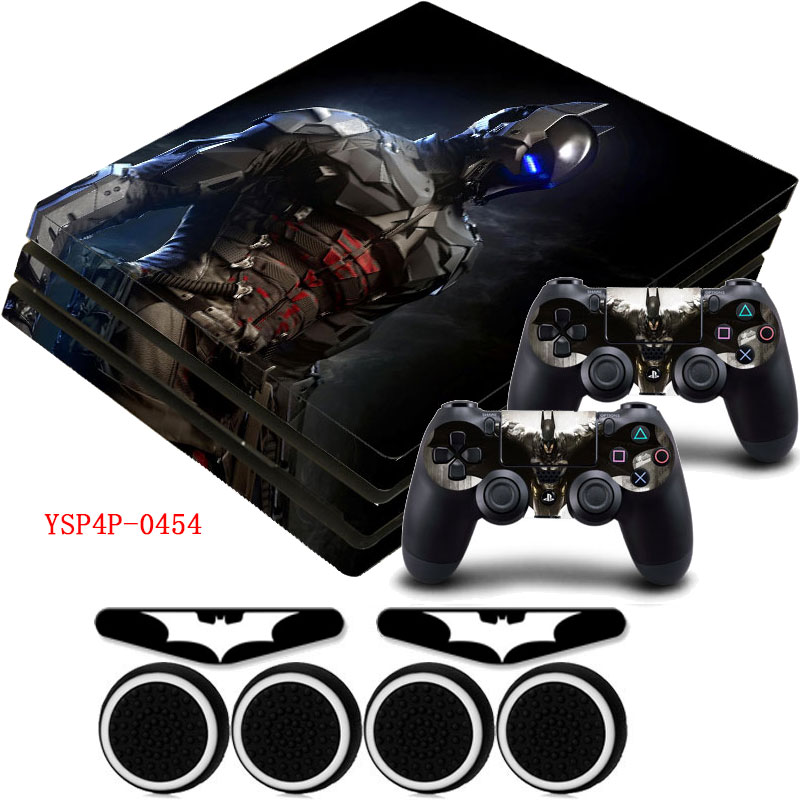 Batman arkham knight ps4 pro vinyl skin anti slip matte decal sticker gifts for sony playstation 4 pro console in stickers from consumer electronics on
