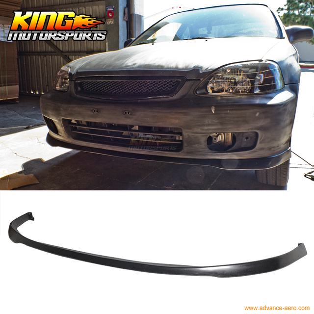 For 1999 2000 honda civic ek sir si r poly urethane front bumper lip for 1999 2000 honda civic ek sir si r poly urethane front bumper lip spoiler pu publicscrutiny Choice Image