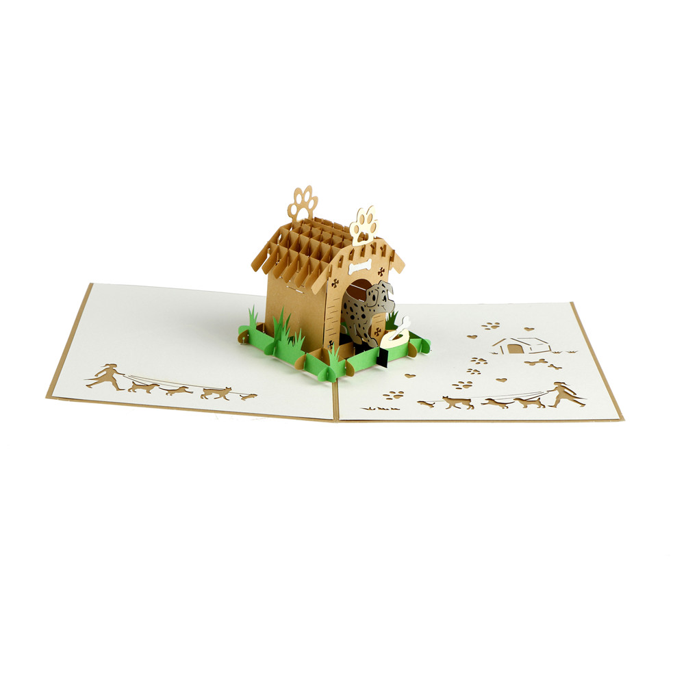 Vintage 3D handmade hollow pop up laser cut creative postcards for birthday Animal Pet dog greeting Cards with envelopes Cards & Invitations    - AliExpress