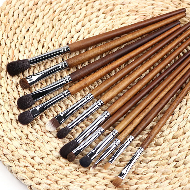 BBL 1 Piece Rosewood Professional Eye Makeup Brush Precision Blender Highlighter Eyeshadow Smudger Brush Angled Eyebrow Brushes 4