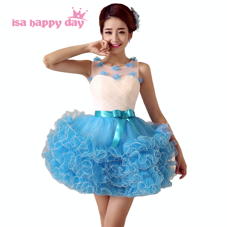 Baby Blue Sexy Girl Short Sweet 16 2017 Modest Teen Homecomming Dress Cute Dresses For Juniors -2941