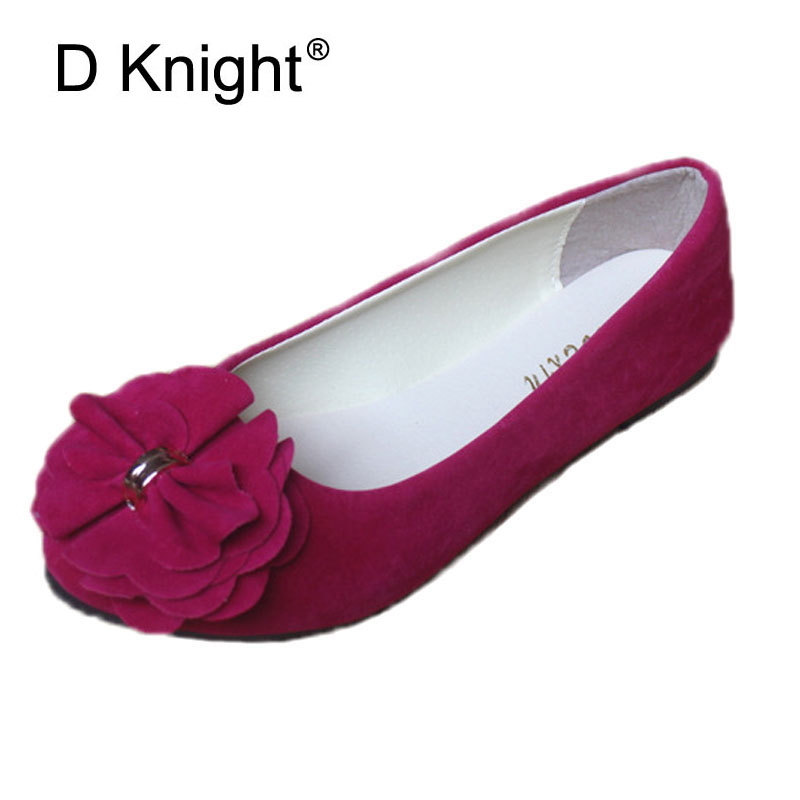 Fashion Bow Round Toe Shallow Mouth Slip-on Women Flats Vintage Flock Ballerinas For Women Ladies Casual Flat Shoes Size 35-42 flock women flats 2017 pointed toe ladies single shoes fashion shallow casual shoes plus size 40 43 small yards 33 sapatos