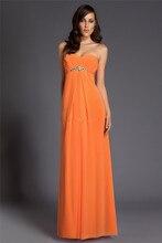 Neues freies Verschiffen A-line bodenlangen Chiffon Abendkleid lange formale Kleid Backless Vestido De Festa F1363
