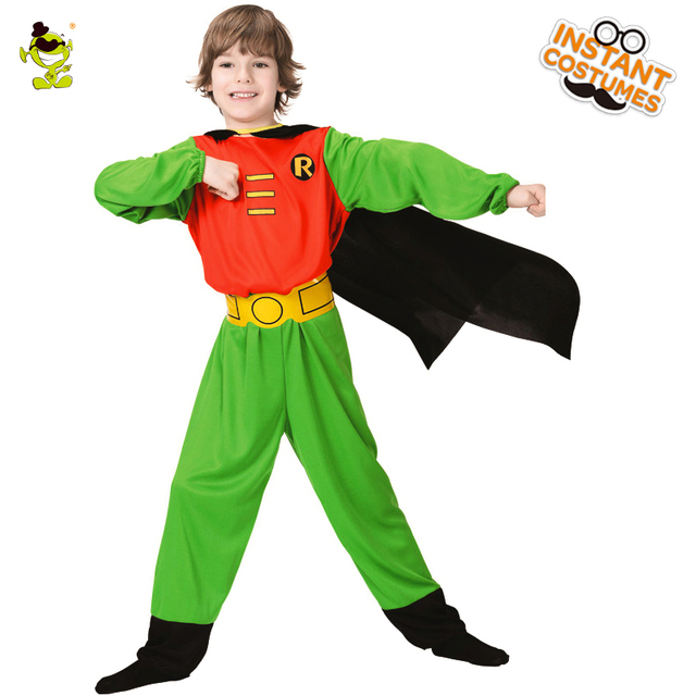 ad3a91b4149 Boys Just Robin Hood Costumes with Cape Famous Movie Character Brave hero  Dress up for kids Role Play Party