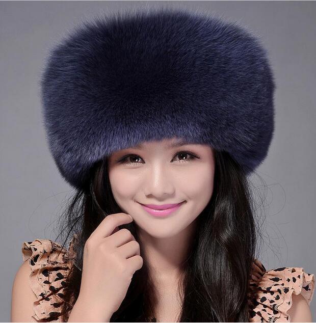 High Quality Whole Skin Real Fox Fur Hat Genuine Leather Mongolian Princess Hat Fashion Warm Fur Headgear For Ladies MS-15 aiweiyi womens high quality genuine leather real fur 100