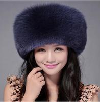 High Quality Whole Skin Real Fox Fur Hat Genuine Leather Mongolian Princess Hat Fashion Warm Fur Headgear For Ladies MS 15