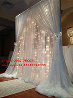 wedding backdrops for piping frame with LED curtain ,wedding decoration props,drape for wedding arch,wedding curtain