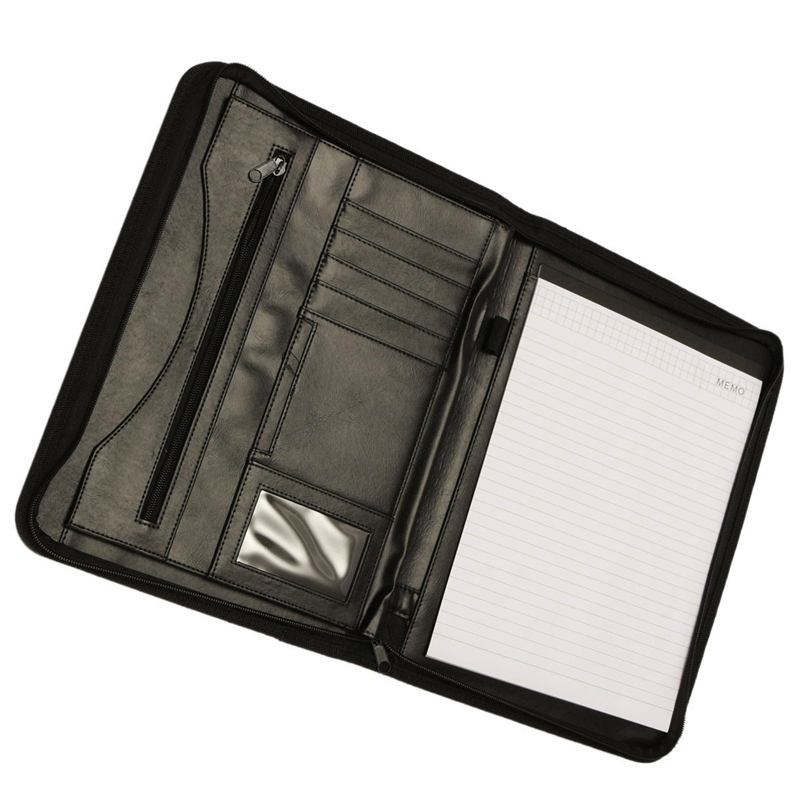 Kicute Executive Conference Folder A4 PU Portfolio Zipped Leather Look Folder Document Organiser Document Holder Office Supplies kicute executive conference folder pu portfolio zipped leather look folder document organiser document holder office supplies