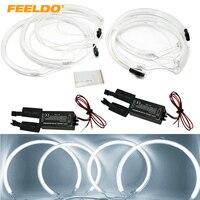 FEELDO 2x159mm 2x127.5mm White CCFL LED Angel Eyes headlights For BMW X5(E53) angel eyes kits #FD 3899