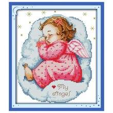 Stitch,Sets Needlework,Stitch,11CT Angel Cross-Stitching