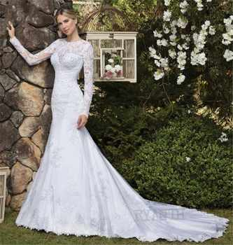 Vestido de noiva Luxury Long Sleeves Mermaid Wedding Dress 2019 New Arrival Shinning Lace Wedding Gowns Robe de mariage - DISCOUNT ITEM  30 OFF Weddings & Events
