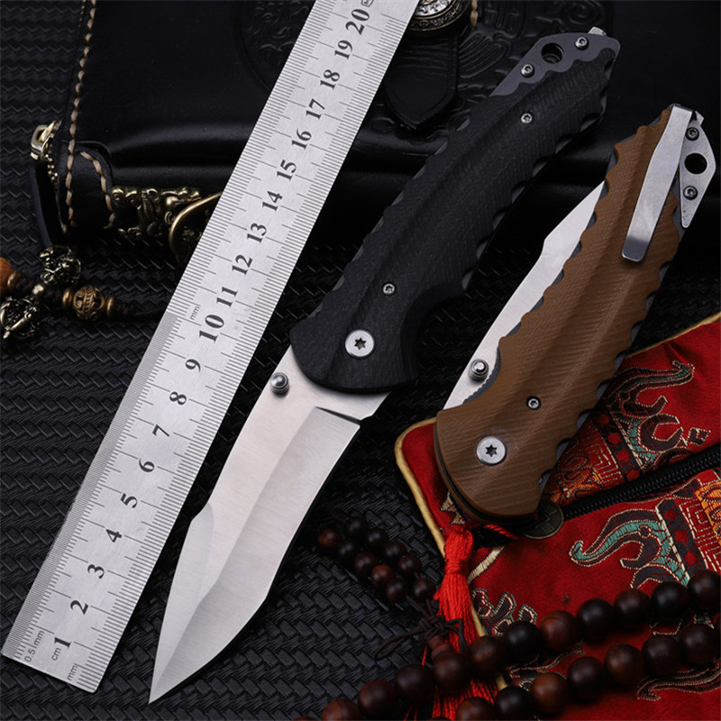 2018 New Free Shipping Good Quality Utility Folding Knife pocket Outdoor Survival G10 Fiber Board Blade Handle Fruit Gift Knives in Knives from Tools