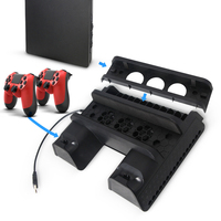 Game Pad Accessories For PS4 Slim Pro Vertical Console Cooling Fan Charger For Sony PS 4 Controller Joystick Charge Mount