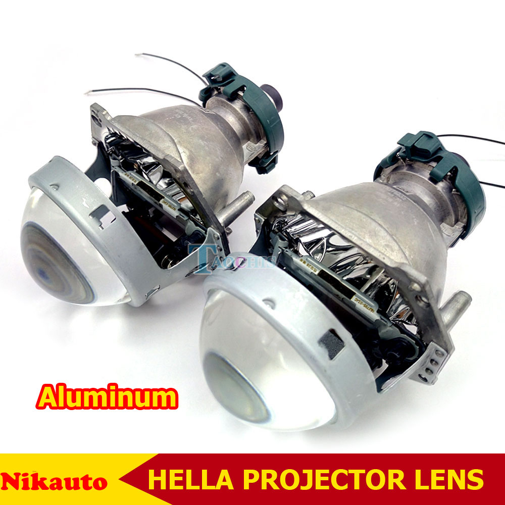 3.0 Inch Bi Xenon Hella Headlamp Projector Lens Aluminum Car Hid Headlight Modify D2S Reflector High Low Beam for Universal Cars taochis 3 0 inch bi xenon hella projector lens hid d1s d3s d4s d2s shroud devil angel eyes head lamp upgrade demon eye