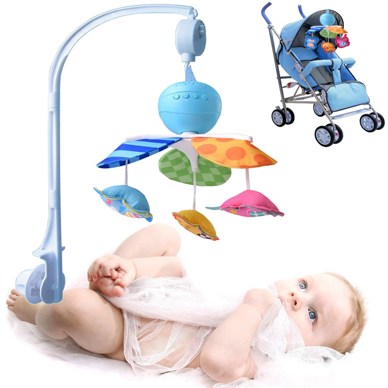 New Newborn Baby Toy 0 1 Year Old Music Rotating Rattan -3868