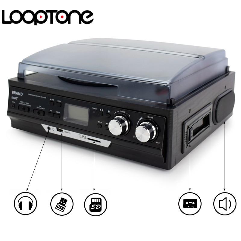 LoopTone 3-Speed Vinyl LP salvestusmängijad Plaadimängija - Kaasaskantav audio ja video - Foto 5