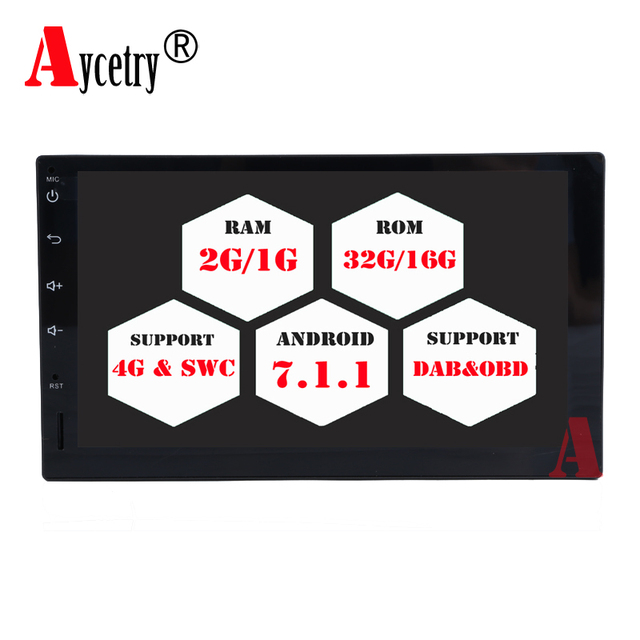 Acetry! Quad core 2 din android 7.1.1 2din universal Car Radio DVD GPS Navigation player In dash Car PC Stereo video 4G TDA 7851