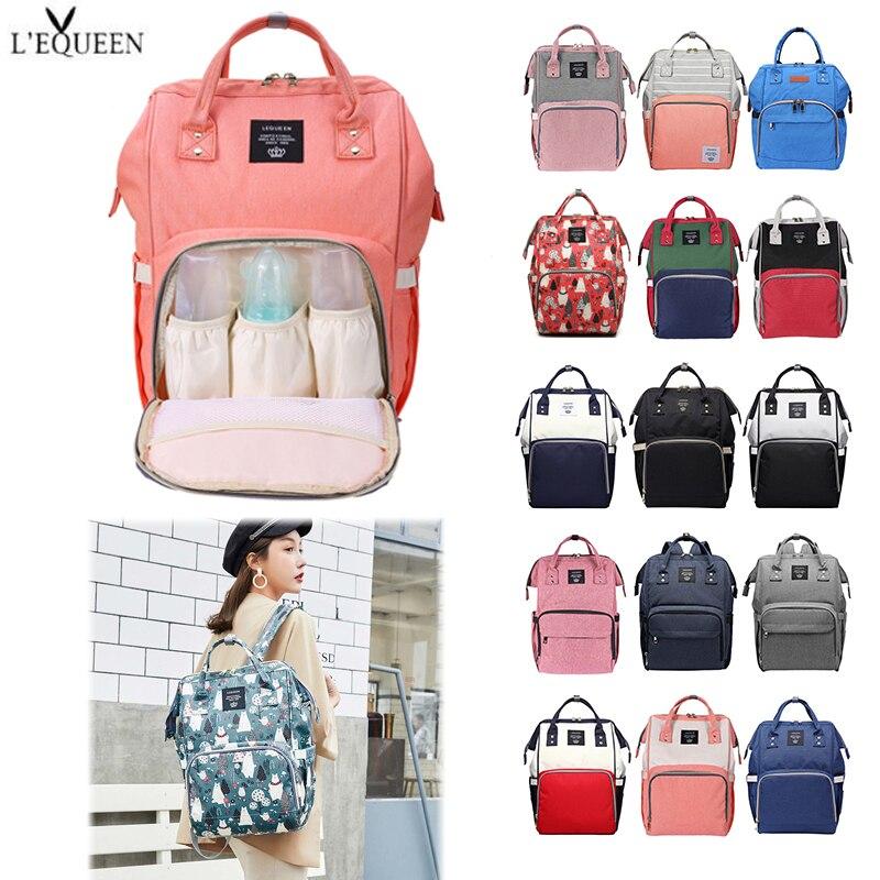 LEQUEEN Diaper Bag Multifunctional Large Capacity Mummy Baby Nursing Bag Maternity Travel Shopping Backpack Nappy Organizer Bag