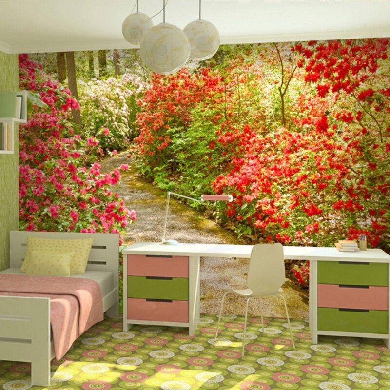Custom Mural 3D Rural Natural Scene Photo Wallpaper Moisture Home ...
