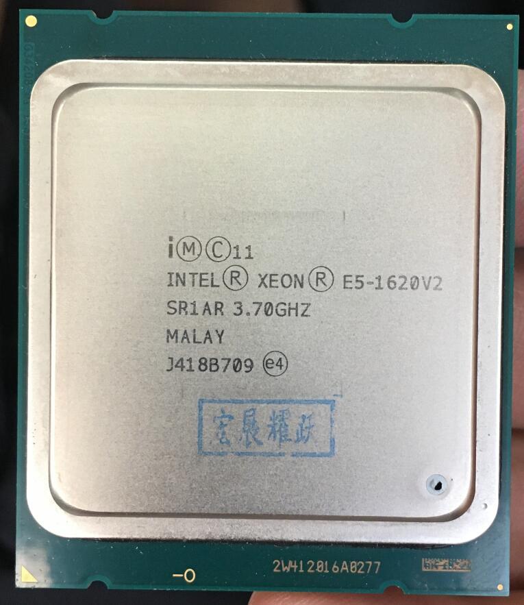 Processeur Intel Xeon E5 1620 V2 E5-1620 V2 CPU LGA 2011 serveur processeur 100% fonctionnant correctement processeur d'ordinateur de bureau