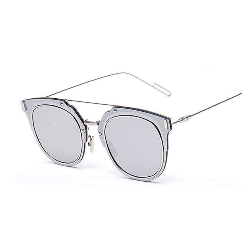 357318b59 2016 Novas Mulheres Marca de Grife óculos de Sol Do Vintage Espelho de  Metal Feminino Óculos Shades Tecnológica Composit Óculos de Sol UV400 D258