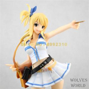 Image 3 - 21Cm Anime Fairy Tail Lucy Heartphilia Pvc Action Figure Collection Model Toy