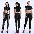 2016 Novas Mulheres Hoodies + Calças Csaual Sólida Camisola Jogging Treino Plus Size Treino 2 pcs. set S-XL