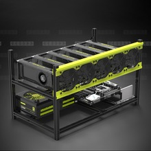 Veddha V3D6 GPU Mining Rig Aluminum Alloy Stackable Case Up To 6 GPU Open Air Frame Stable Rack Bracket Black High Quality