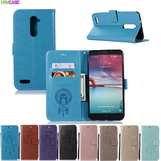 Luxury Flip Leather Cover For ZTE Blade ZMax Pro Z981 Case Owl Imprinted Cards Slots Stand Wallet Phone Case For ZTE Z981 Cover