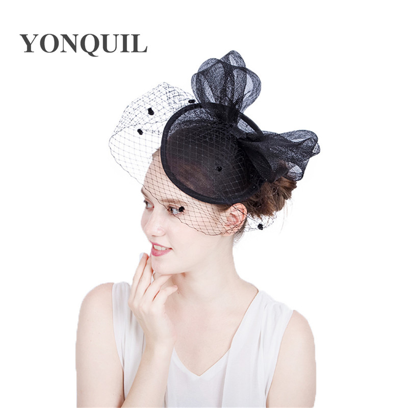 5b5b7dbdf99 NEW ARRIVAL 17 colors Elegant Wedding Cocktail Hats For Women nice big  bowknot Design Banquets Ladies Summer Occasion Event Race-in Party Hats  from Home ...