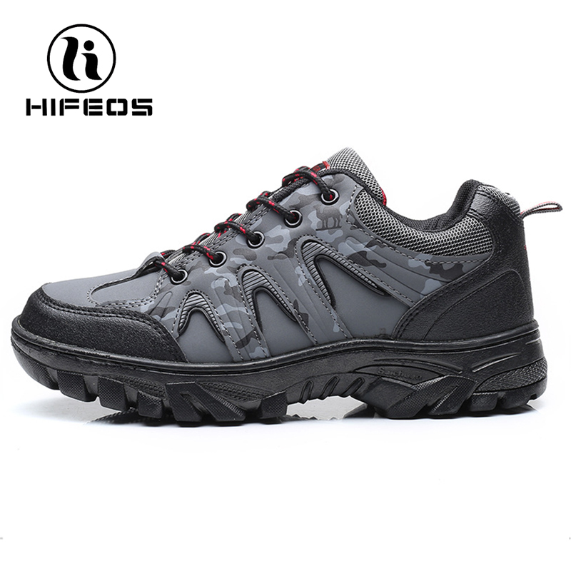 HIFEOS men 's anti-slip wear-resistant shoes breathable outdoor boots hiking sneakers low-top waterproof microfiber vamp M034 hifeos outdoor hiking shoes anti slip boots lace invisible increased men s shoes comfortable breathable sneakers climing m065