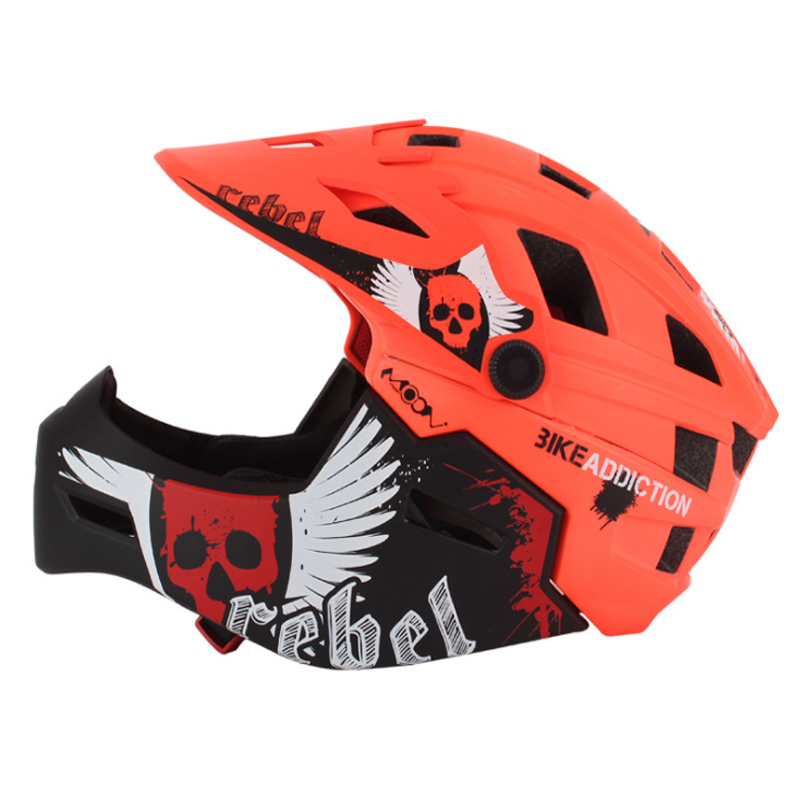 MOON Women Children Bicycle Helmet Integrally-molded Bike Helmet MTB Road Mountain Cycling Helmet Mouth Guard 47-58cm