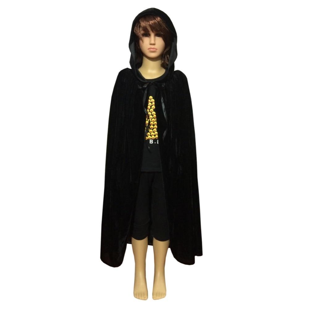 newest kids cosplay solid girl boy hooded velvet cape cloak halloween fancy dress robe costume on aliexpresscom alibaba group