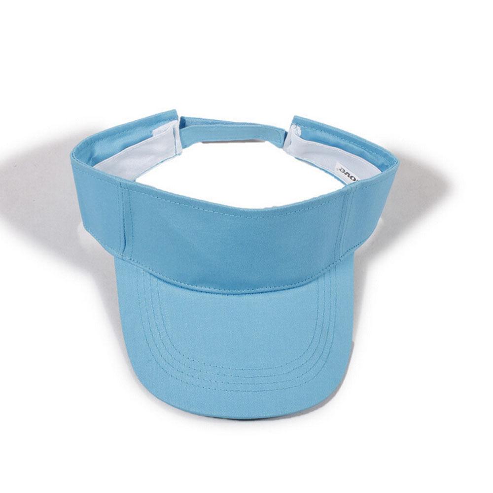 New Design Women Men Solid Color Casual Sum Hats Adjustable Visor ...